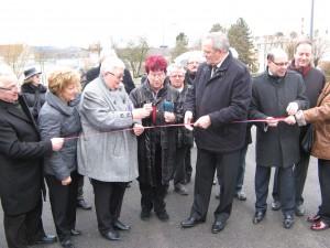 Inauguration des travaux de requalification de la rue de St Nicolas-en-forêt